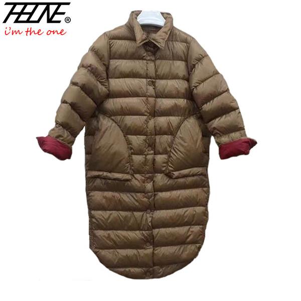 2018 Ultra Light Down Jacket Women Winter Coats Black Overcoat Warm 90% Duck Down Padded Long Winter Jackets Female Parka