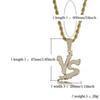 VS ouro, pingente de prata, cobre, dragão roxo, designer de jóias de hip hop, cadeia de corda de jóias, corrente de gelo-fora, colar do homem, corrente fora do homem