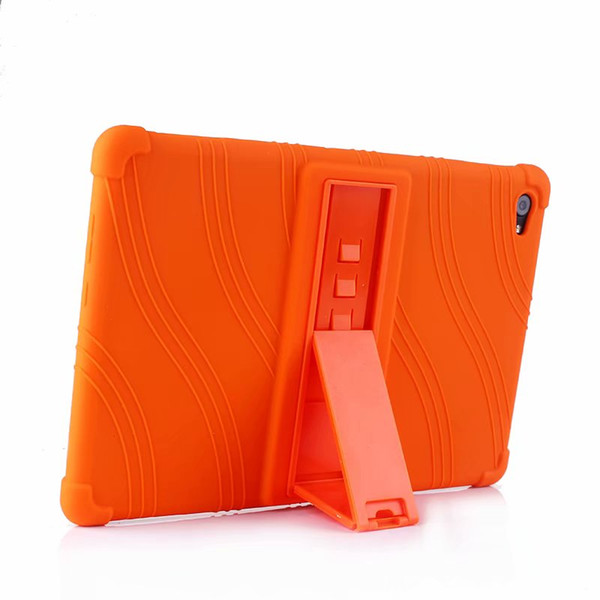 Soft Silicon TPU Back Cover Case Stand for Huawei MediaPad M5 Lite 10 BAH2-L09 BAH2-W19 BAH2-AL09 10.1 inch Tablet