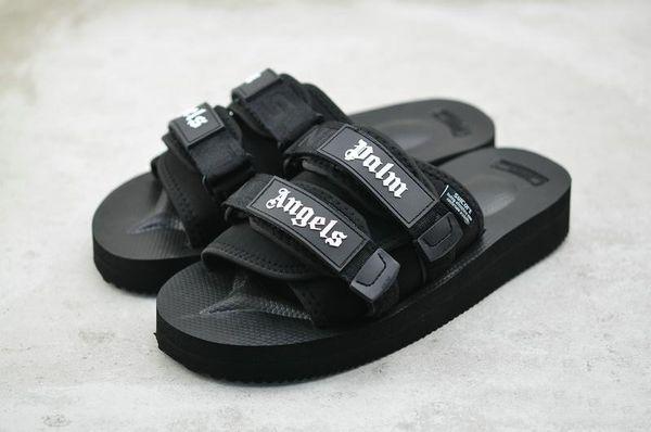 Top Quality Black CLOT X SUICOKE Palm Angels Summer Trip Fest Rubber Sole Slides Designer Sandals SUICOKE Slippers