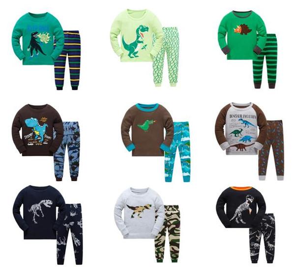 Bambini Pigiama Ragazzi Animali Pigiameria Bambini Pigiama Top + Pantaloni Pigiama 2 pezzi per 1 ~ 7 anni 6 set / l