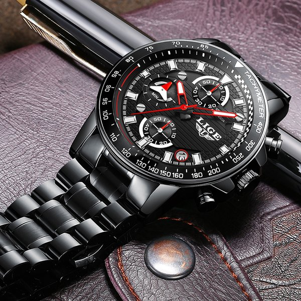 wholesale Men Watches Top Brand Luxury Fashion Business Quartz Watch Men Sport Watches Full Steel Waterproof Watch Relogio Masculino