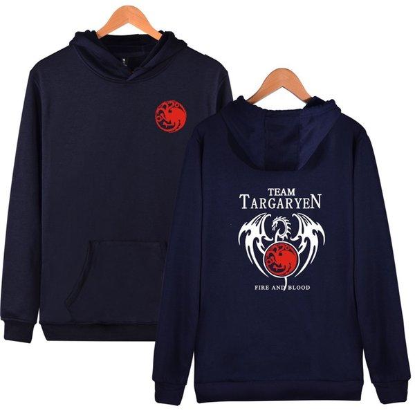2019 heiß! Beiläufige Hoodies Baumwollmaterial Sweatshirts Frühling Game of Thrones Print Leniency Pullover Warmhalten Damen / Herren Cashmere Sweatshirts