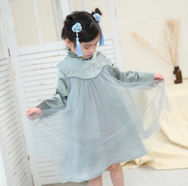 Summer new girls Chinese style improved fashion cheongsam Chinese style Tang suit female treasure dress skirt cheongsam