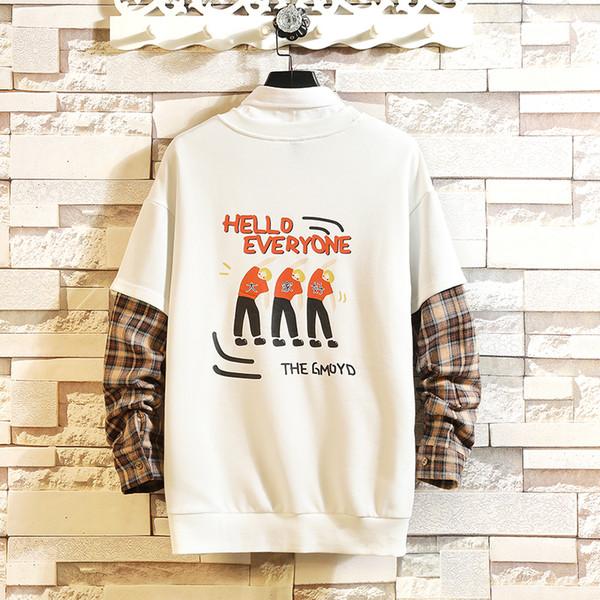 Pathwork hoodies Imprimés Sweats À Capuche Hommes Casual Pull À Capuche Streetwear 2019 hip hop De Bande Dessinée Faux Deux Pièces
