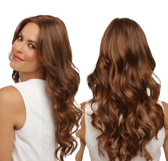 Uzun Dalgalı Kıvırcık Sentetik Saç peruk Siyah Kadınlar için Afro-amerikan Sentetik Saç Isıya Dayanıklı Peruk