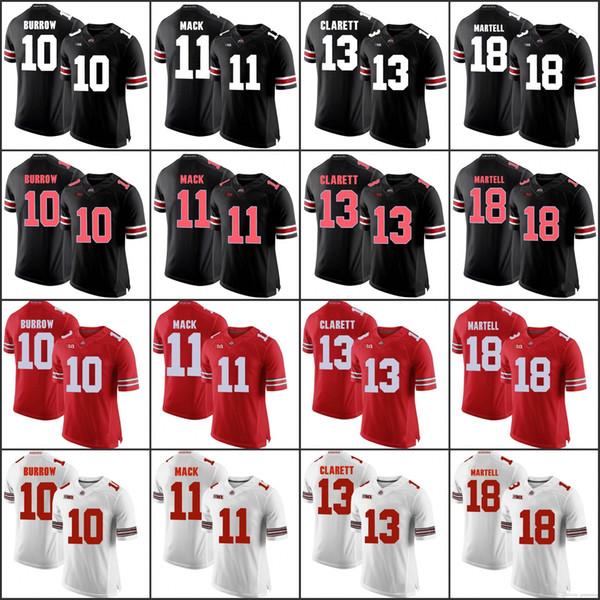 Custom OSU Ohio State Buckeyes Футбол Джерси Джастин Филдс Доббинс Хаскинс Барретт МАРТЕЛЛ КЭМПБЕЛЛ ВЕБЕР Джордж Уилсон Мужчины Женщины