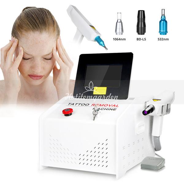 1000MJ YAG Láser Q-Switch ND Terapia con láser Tatuaje Cicatriz Mole Eliminación de la peca Punto oscuro Máquina de cuidado de la piel Dispositivo de belleza