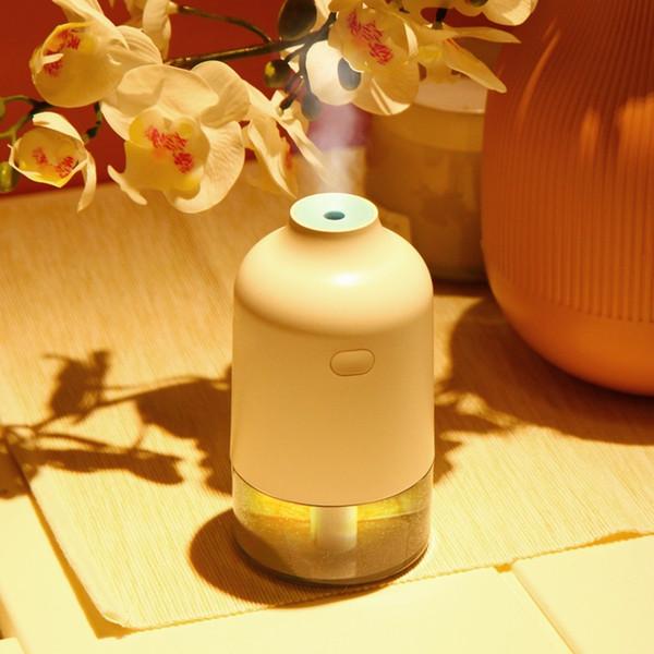 Nuovo umidificatore domestico diffusore di aromi ad ultrasuoni USB aromaterapia diffusore di olio essenziale 200 ml umidificatore a luce calda