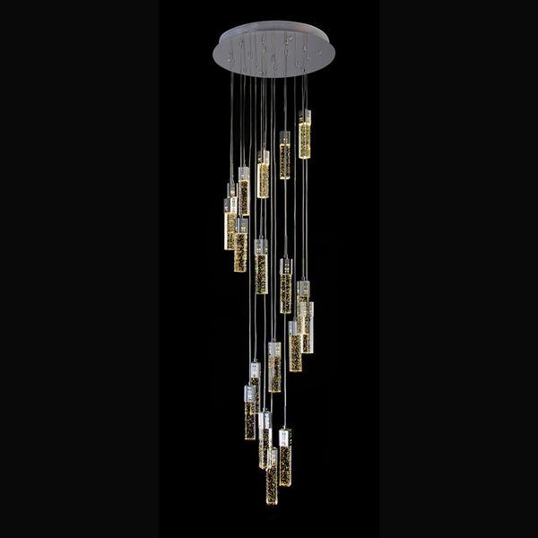 Lámpara Cuerda De Iluminación Moderna Cristal Compre Cristal Colgante Lámparas De De Iluminación Hotel De Para De Escalera Luz Espiral Gotas Lámpara 76gyYfb