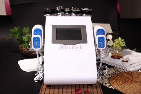 6in1 Ultrasonik 40 K Kavitasyon RF Vakum Karınca Selülit Kilo Kaybı 8 pedleri lipo lazer LLLT İnce zayıflama güzellik Makinesi salon kliniği için