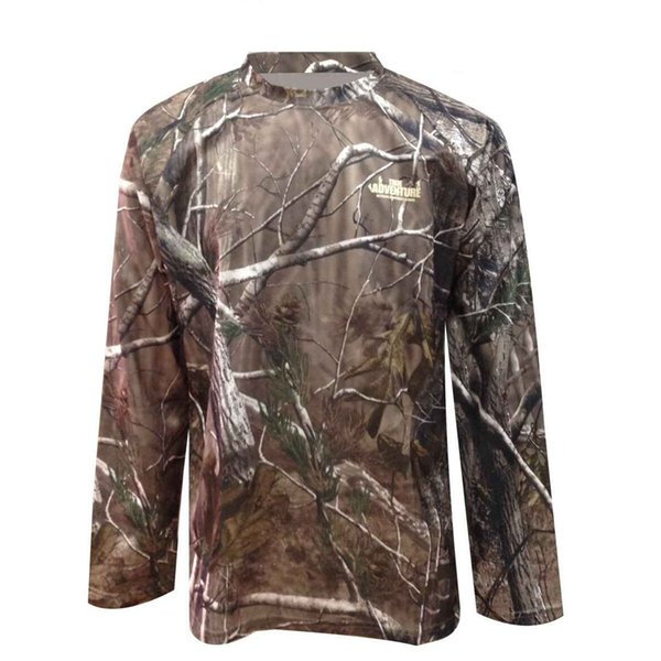 Spring Men's Bionic Camouflage Quick Dry T Shirt Tops Male Outdoor Sports Hunting Jungle Long Sleeve Breathable T T-Shirt Shirts