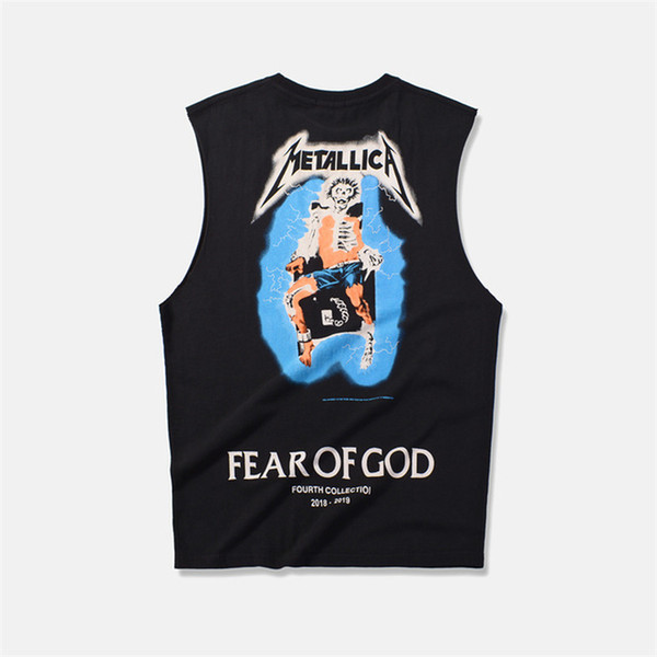 peur de dieu brouillard t-shirt été 3D mens manches courtes Tee Tops Harajuku broderie vetements Metallica Tshirt