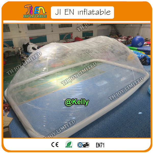 free shipping transparent inflatable pool cover tent for sale, commercial clear inflatable swimming pool tent bubble tents