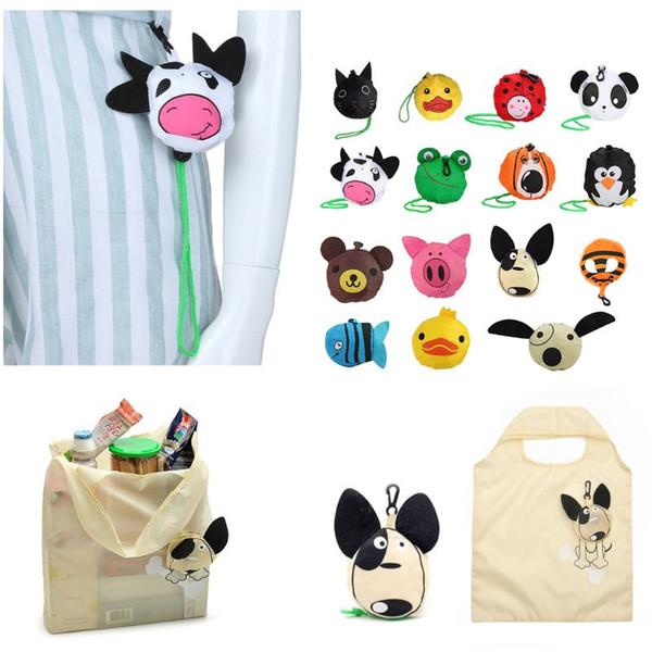 Cartoon Foldable Bag Handbag Reusable Grocery Travel Shopping Carry Bags Tote