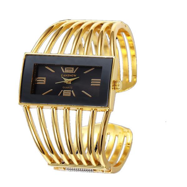 Big Face Gold Silver Bangle Watch Mujer Elegante Marca Reloj de Cuarzo Analógico Relojes de Las Señoras Reloje Mujer Montre Pulsera Femme 2018