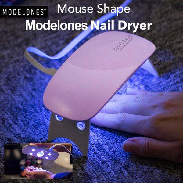Portable Mini 6W LED Lamp Nail Dryer USB Charge 30s 60s Timer LED Light Quick Dry Nails Gel Manicure For Nail Art