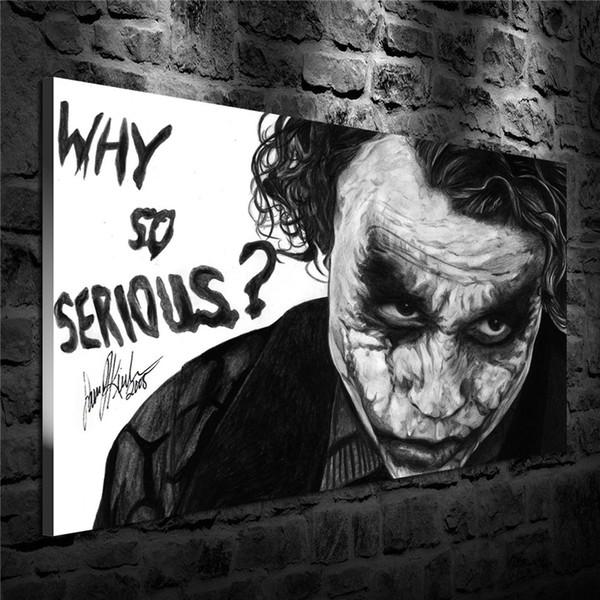 Batman,Joker -01,1 Pieces Canvas Prints Wall Art Oil Painting Home Decor (Unframed/Framed) 24X36.