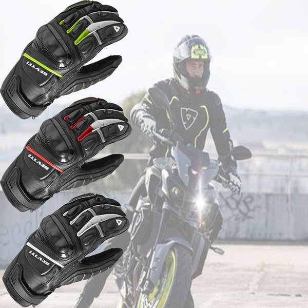 new Revit Motorcycle Gloves Leather Chicane Racing suits knight Riding Motorbike jacket Gloves Racing MOTO Genuine Leather
