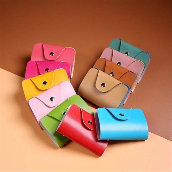 Mini portefeuille hommes femmes 12 couleurs disponibles en cuir titulaire de la carte de crédit cas titulaire de la carte portefeuille cartes de visite portefeuilles sac affaire