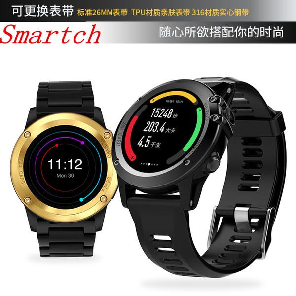 Smartch GPS Wifi 3G H1 Akıllı İzle MTK6572 IP68 Su Geçirmez 500 W Kamera 1.39 inç 400 * 400 Kalp Hızı Monitörü ROM 4 GB Android Için I