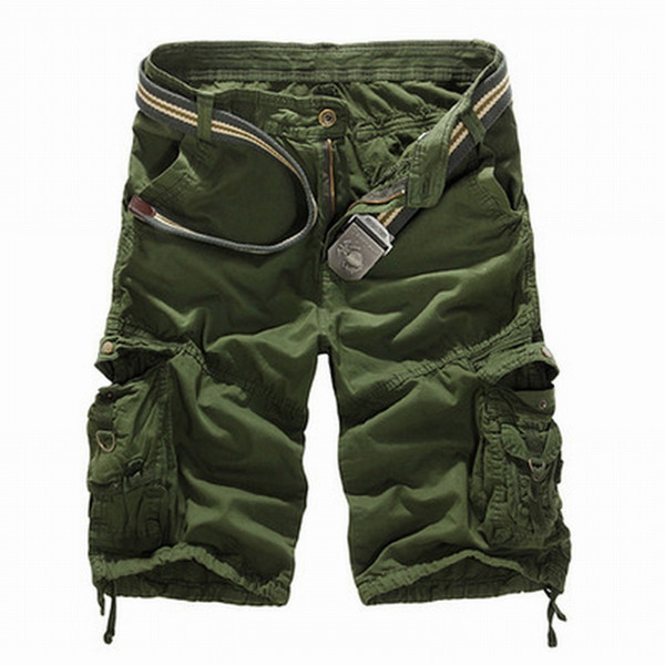 SHUJIN New 2019 Men Cargo Shorts Casual Loose Short Pants Camouflage  Summer Style Knee Length Plus Size 8 Colors Short