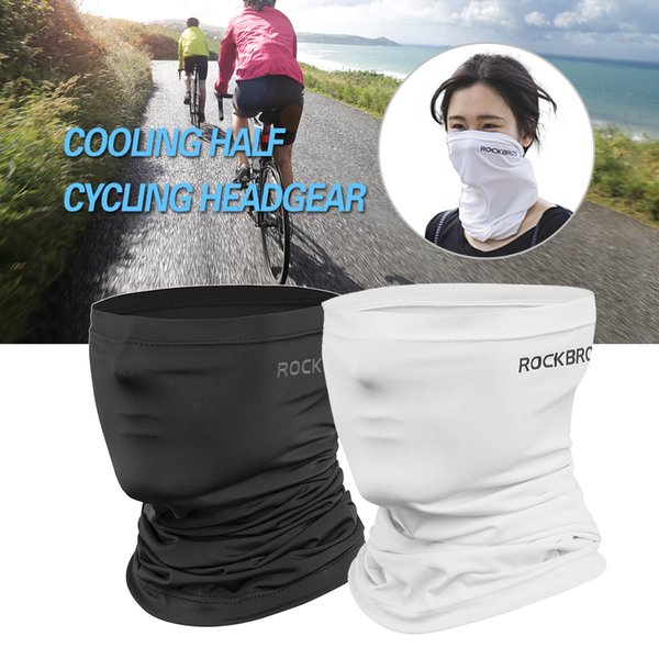Cycling Half Face Mask Motorcycle Neck Warmer Riding Neck Gaiter Cooling Climbing Running Hiking Wrap Ice Silk