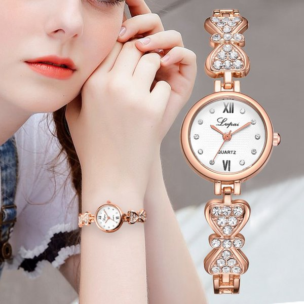 Rhinestone Relógios Das Mulheres De Luxo De Aço Inoxidável Relógio de Quartzo Novas Mulheres Da Moda Vestido Pulseira Relógios Senhoras Relógio Relojes 2019