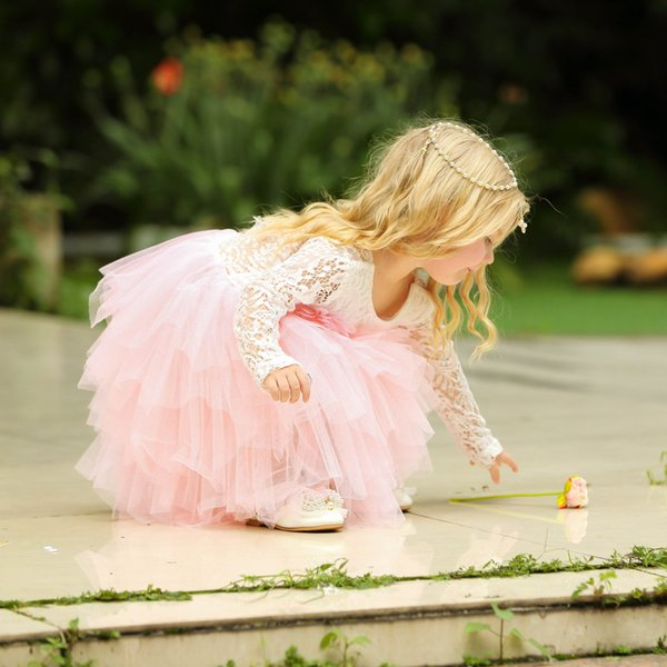 Cute Kawaii Girls Ceremonies Dress Baby Children's Clothing Tutu Kids Dresses for Girls Clothes Wedding Party Gown Vestidos Robe Fille