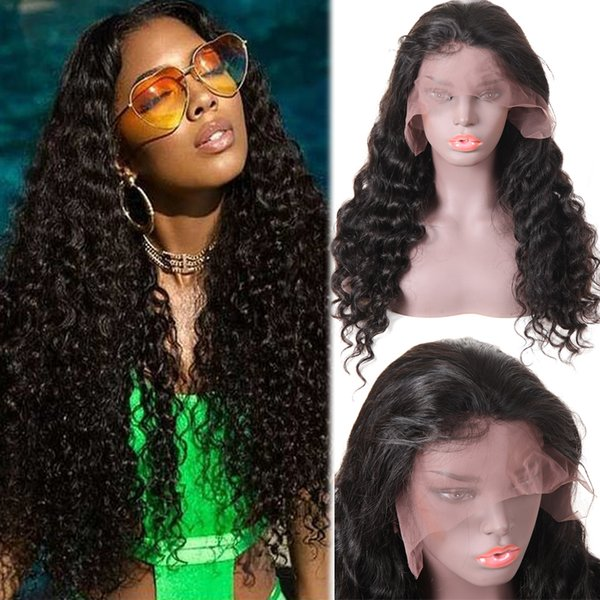 10A Loose Deep 360 Full Lace Or Lace Frontal Human Hair Wigs Pre Plucked Hair Remy Human Hair Curly Deep Wave Loose Wave For Black Women