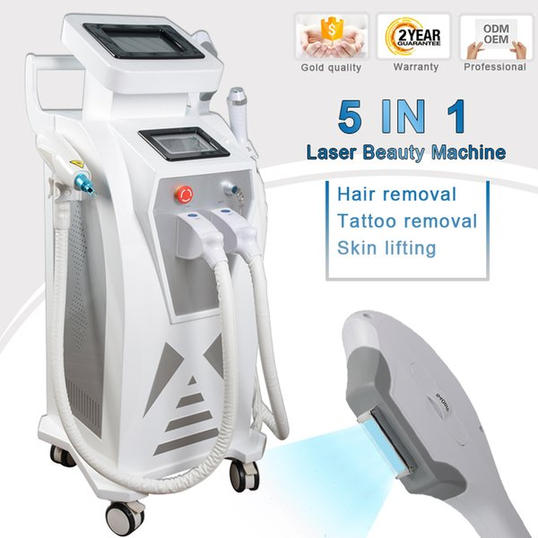 4 in 1 beauty instrument hair removal ipl q switched nd yag laser tattoo removal beauty machine laser hair removal