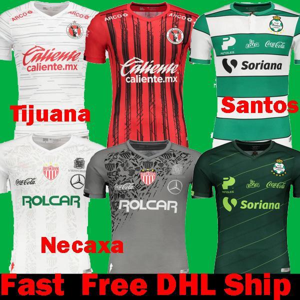 Rápido Livre navio DHL 2019 2020 México Liga Xolos de Tijuana Casa Fora camisas de futebol 19 20 Santos Laguna Necaxa Atlas Camisas de Futebol Pachuca