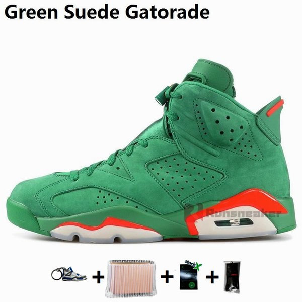 6s-Green Suede Gatorade
