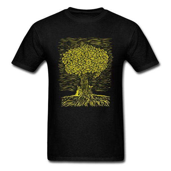 JAZZ TREE T-shirts Short Sleeve Normal Hip Hop Men Summer Tops T Shirt Normal Tee Shirts Round Collar All Cotton