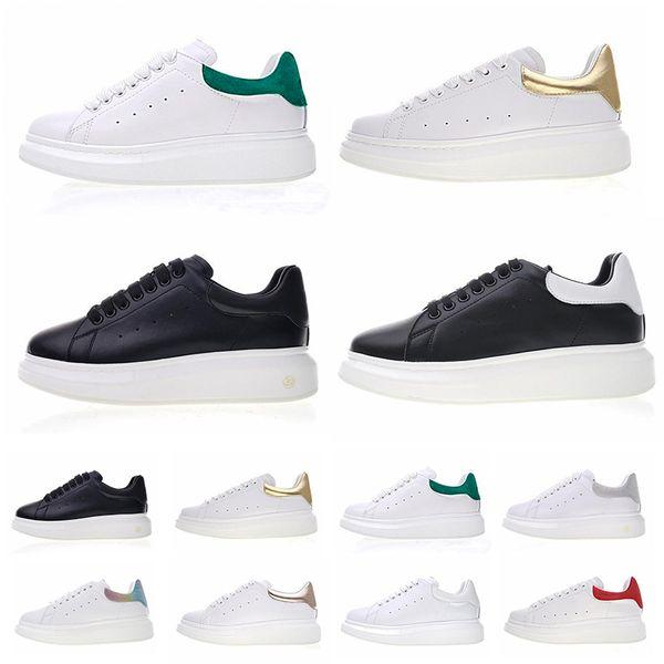 Nouveau Chaussures Homme 2019 Stan Smith Mode De Luxe Designer Femmes Casual Chaussures Blanc Noir En Cuir Plate-Forme Plate Partie De Mariage Formateurs Chaussures