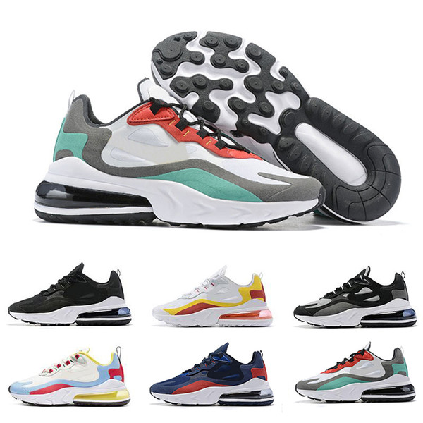 NIKE Air React 270 Men Running Shoes White Green Blue Red Mens High Quality Trainer Runner Sports Sneakers des Chaussures