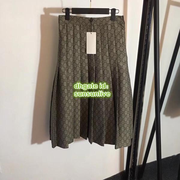 Женщины Марка A-Line Плиссированные юбки из плотной ткани с принтом в виде буквы Oversk
