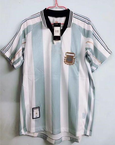 98 Arjantin retro klasik vintage DIEGO MARADONA forması Futbol forması 1998 Camisa de futebol forması Yetişkin futbol Gömlek TAYLAND KALITE