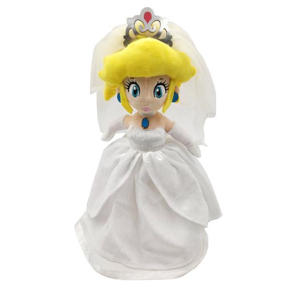 EMS Super Mario Bros Odyssey Princess Peach With Wedding Dress 33CM Plush Doll Party Soft Gift Stuffed Toy
