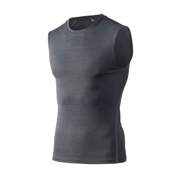 Stretch Tight Training Vest Hommes Sports Running Fitness Basketball Séchage rapide Vêtements T-shirt