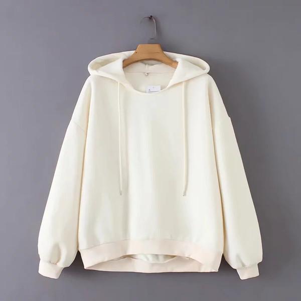 Color sólido tejer mujeres sudaderas con capucha casual señora linterna manga bata otoño streetwear moda tops flojos SW556