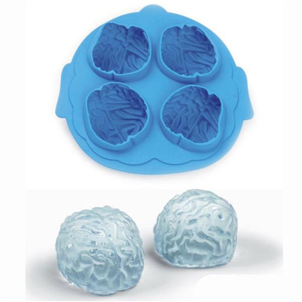 Cérebro Silicone Ice Cube Tray novidade Halloween Ice Malha Moulding Mold Chocolate Soap molde partido Mold Cozinhar Ferramentas JK1909