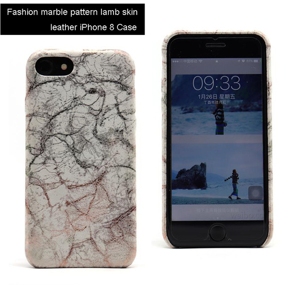 Fashion Colorful Marble Pattern Lambskin Leather Backcover For iPhone 8 Ultra Slim Fit Shell For Apple iPhone 7 Stylish Urban Design Case