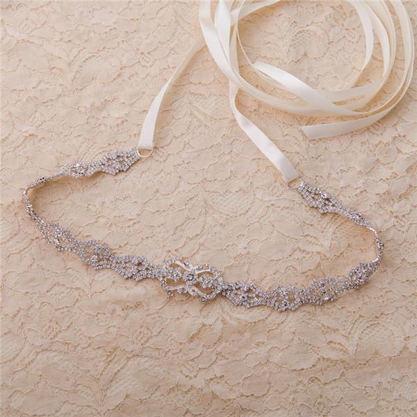 Cinturon Novia 275 CM Rhinestone Cinturón nupcial 6 colores Crystal Diamond Wedding Belt Accesorios de boda baratos Ceinture Mariage CPA1687