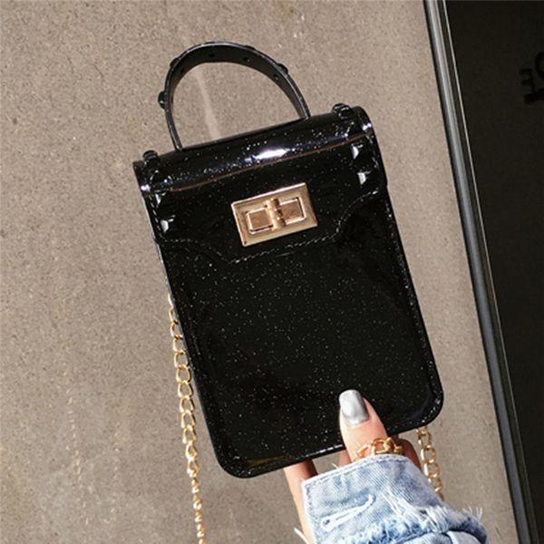 Women mini bag candy color PVC Jelly handbag kid girls shoulder bag transparent purse tote Messenger Small Square