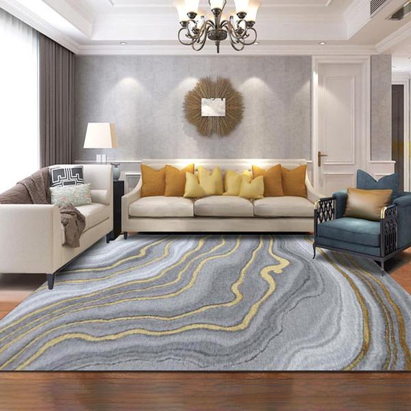 Camera da letto moderna della stuoia della porta della cucina della camera da letto della moquette della stanza da salotto del tappeto grigio astratto moderno di stile nordico