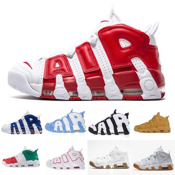 2019 Yeni 96 QS Olimpiyat Varsity Bordo daha Erkek Basketbol Ayakkabıları 3 M Scottie Pippen hava Uptempo Chicago Eğitmenler Spor Sneakers Boyutu 40-47