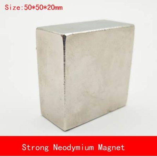 1PCS block 50x50x20mm N52 Super Powerful Strong Rare Earth Block NdFeB Magnet Neodymium N38/N52 Magnets