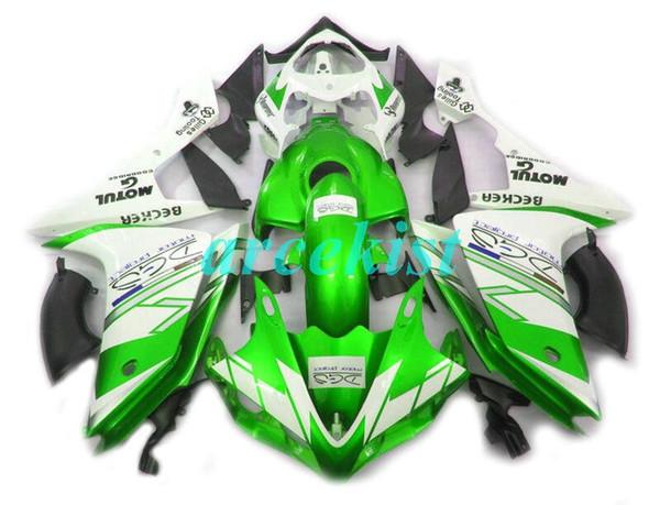 4Gifts Нового ABS прессформы мотоцикл обтекатели, пригодные для Yamaha YZF-1000-R1 2007 2008 07 08 обтекателя кузова установлен обычаем белого зеленый