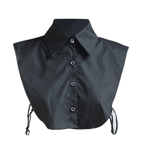 Lace Modis donne gira-giù il collare professionale Commuter falso del collare della camicia di cotone elegante Ladys Uniforme Girocollo risvolto Xew 000